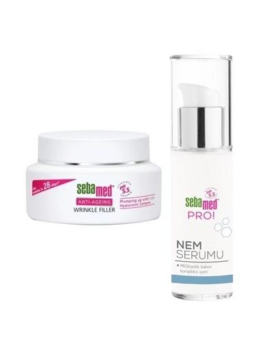 Sebamed Sebamed Wrinkle Filler Moisture Cream+Canlandırıcı Serum Set Renksiz